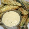 Zucchini Fries with Carmelized Onion Dip