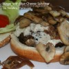 {Black n' Blue Burger with Blue Cheese Schmeer}