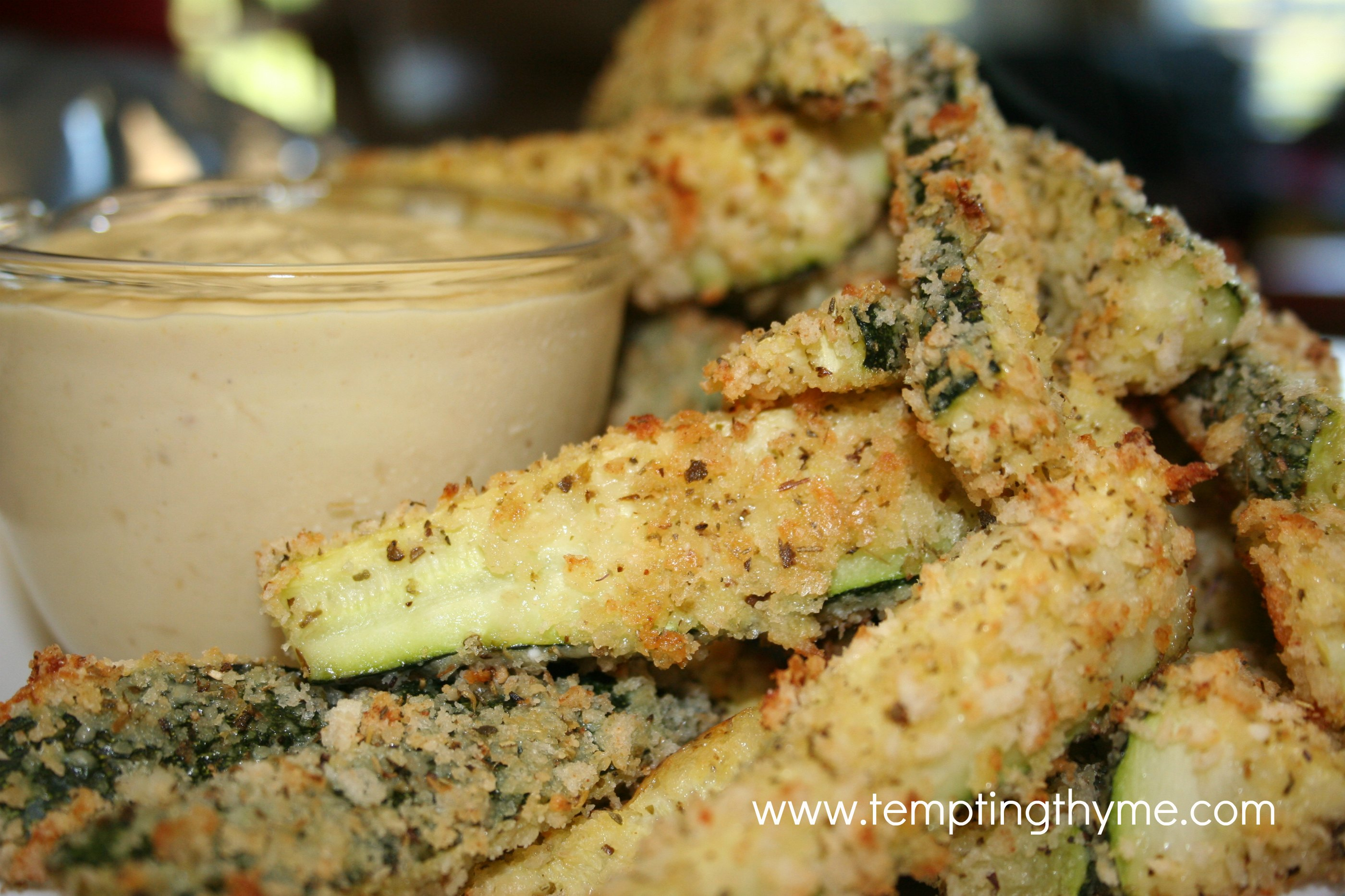 Zucchini Fries with Carmelized Onion Dip!