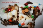 Brownie with Toffe and m&m's