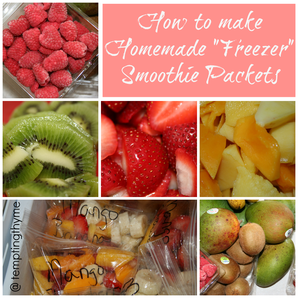 Fruit Smoothie-Homemade smoothie packets
