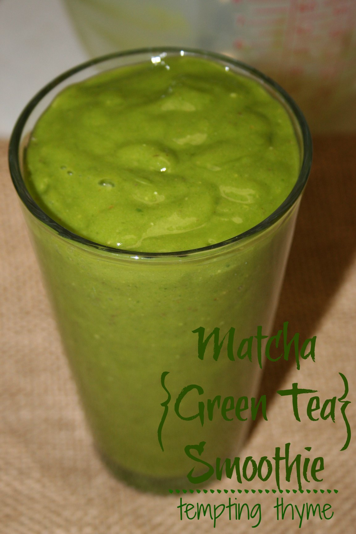 Tempting Thyme Matcha Smoothie