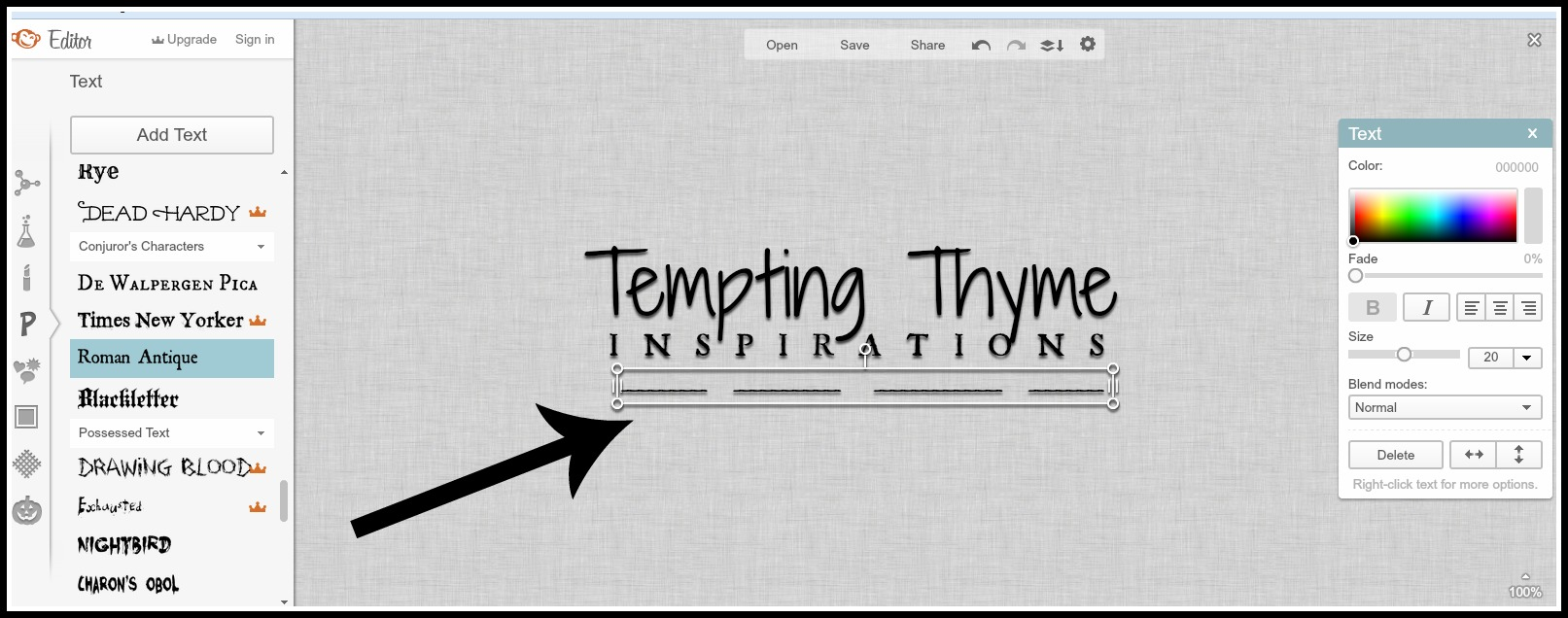 Transparent Watermark-Tempting Thyme