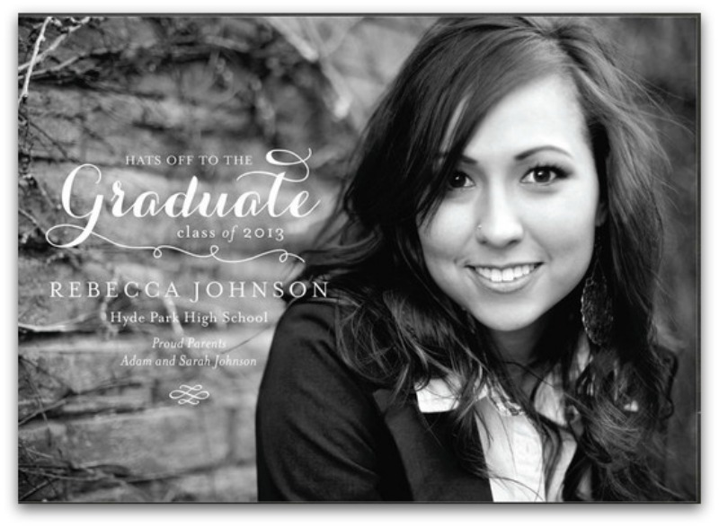 graduation announcements using minted tempting thyme