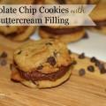 Chocolate chip Cookies with Chocolate Buttercream Filling