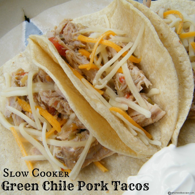 Green Chile Pork Tacos