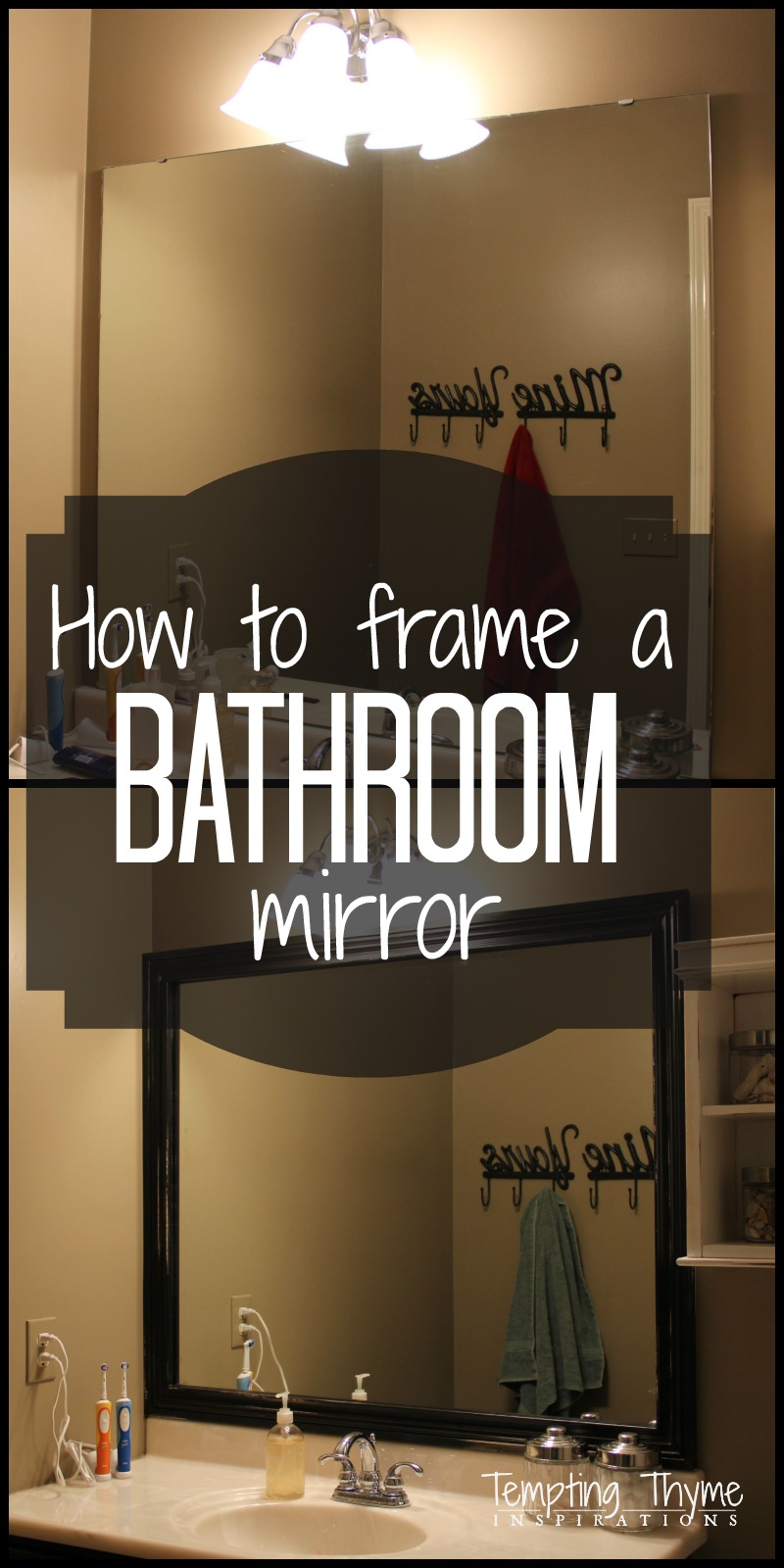 Framing A Bathroom Mirror Tempting Thyme
