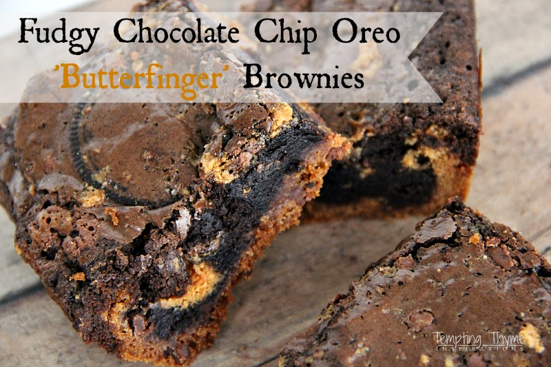 Chocolate Cookie Butterfinger Brownies