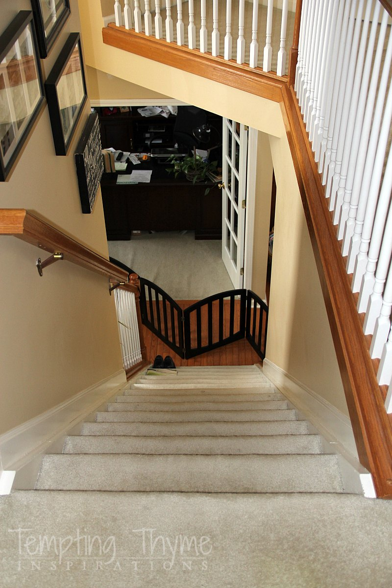 DIY wooden stairs