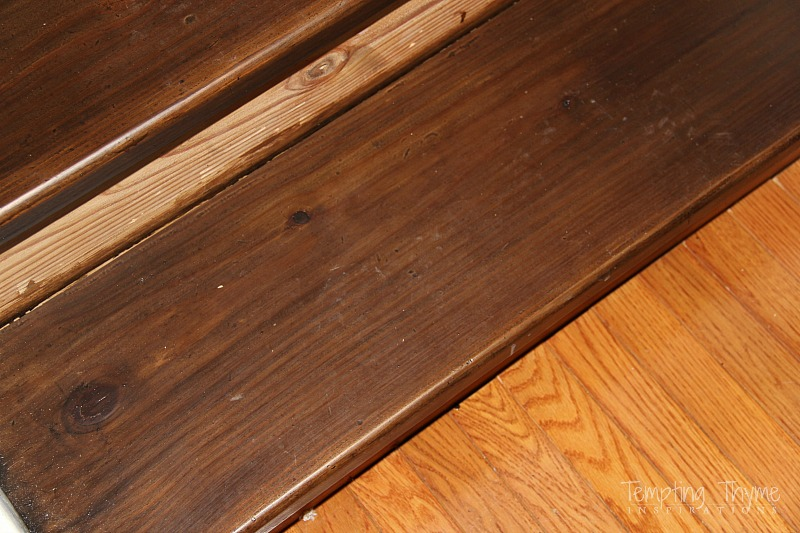 How to stain pine stairs