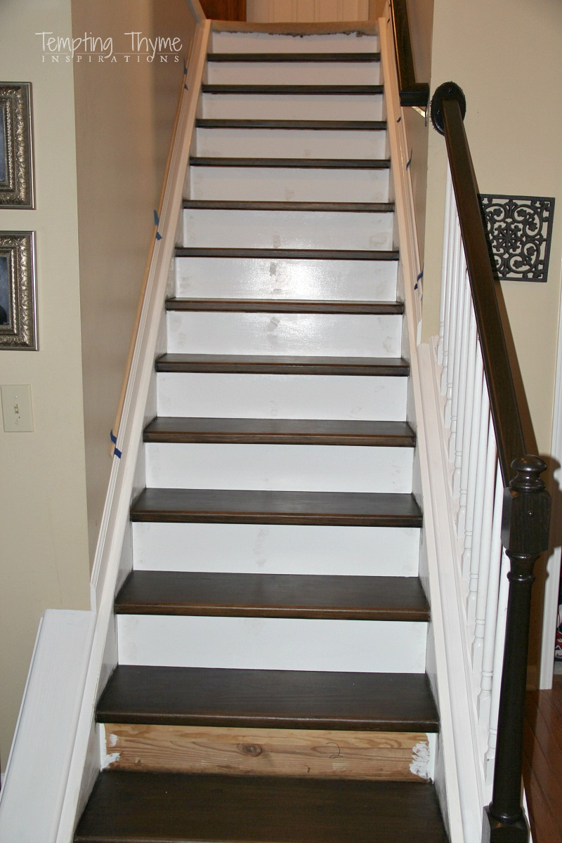 Attirant How To Install Stair Risers