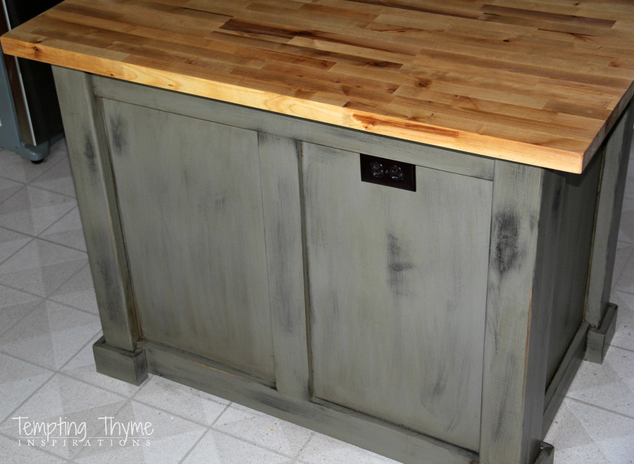 Kitchen Island Makeover kitchen island makeover | tempting thyme