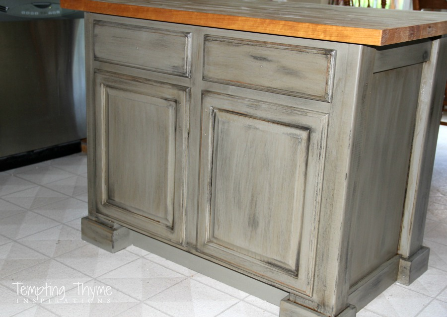kitchen island makeover tempting thyme