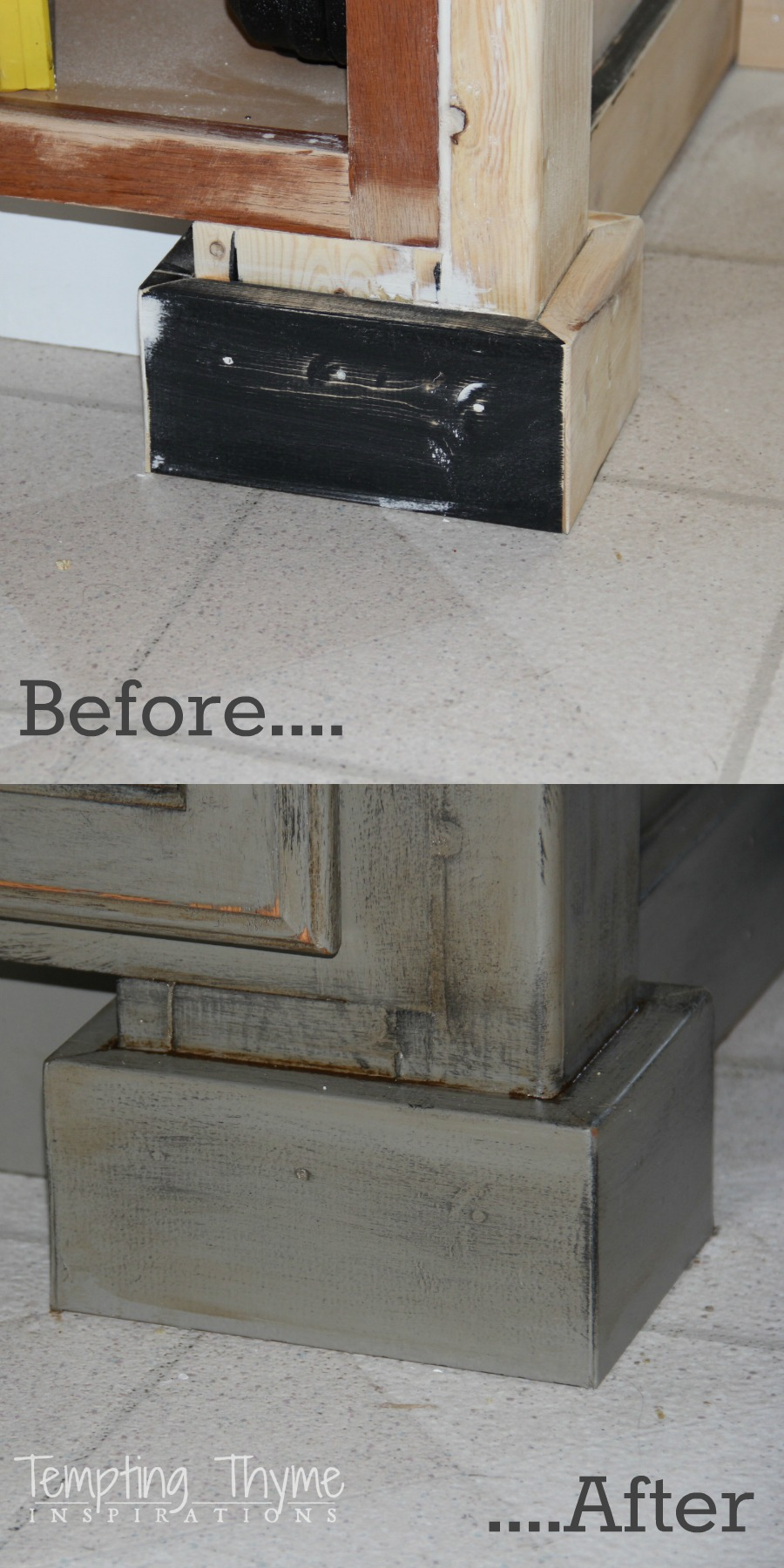 How To Kitchen Island Makeover Tempting Thyme