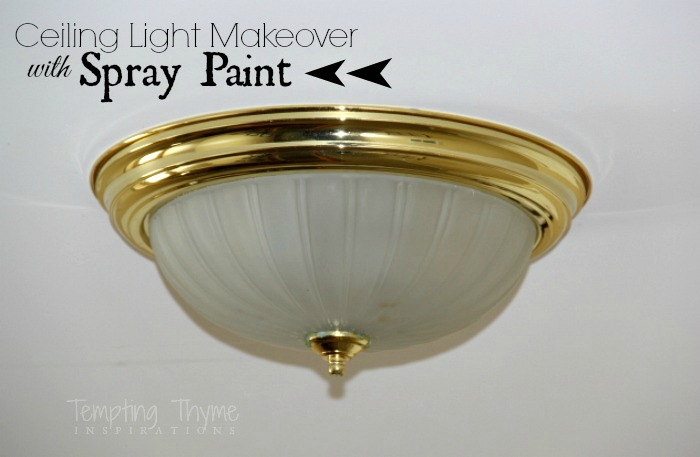 Spray painting ceiling lights