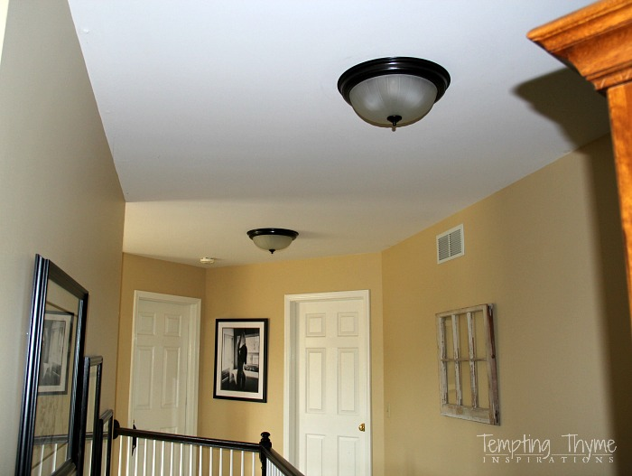 How to paint ceiling lights with spray paint