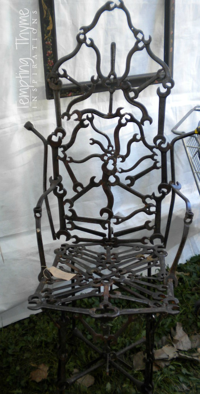 Chair made from old wrenches