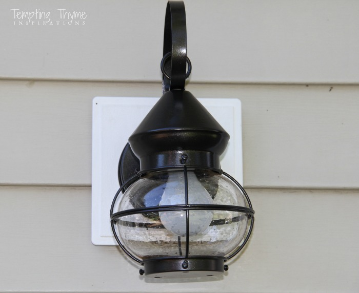 spray painting light fixtures