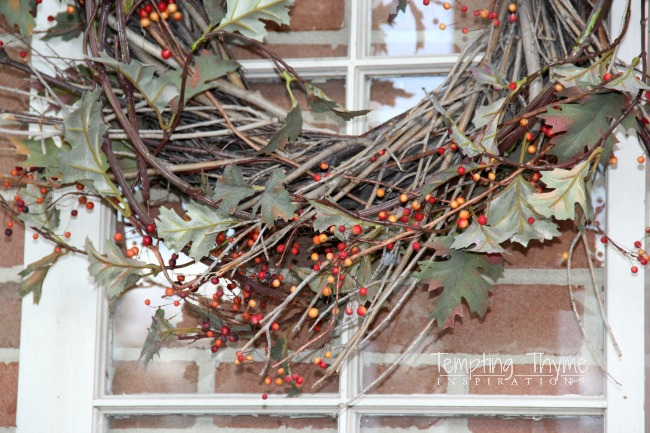 DIY Fall Wreaths-Grapevine Wreath