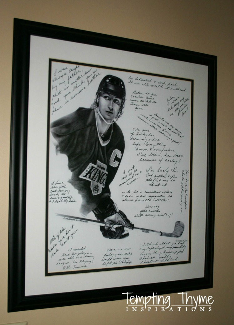 Wayne Gretsky- DIY Framed Artwork