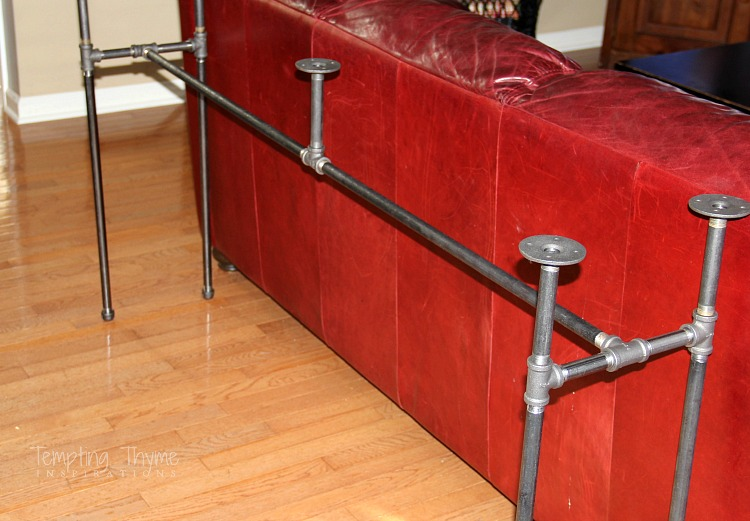 Diy Industrial Pipe Table Tempting Thyme