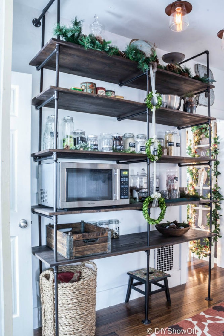 Industrial Furniture Modern Industrial Shelf Unit Pipe Shelving With