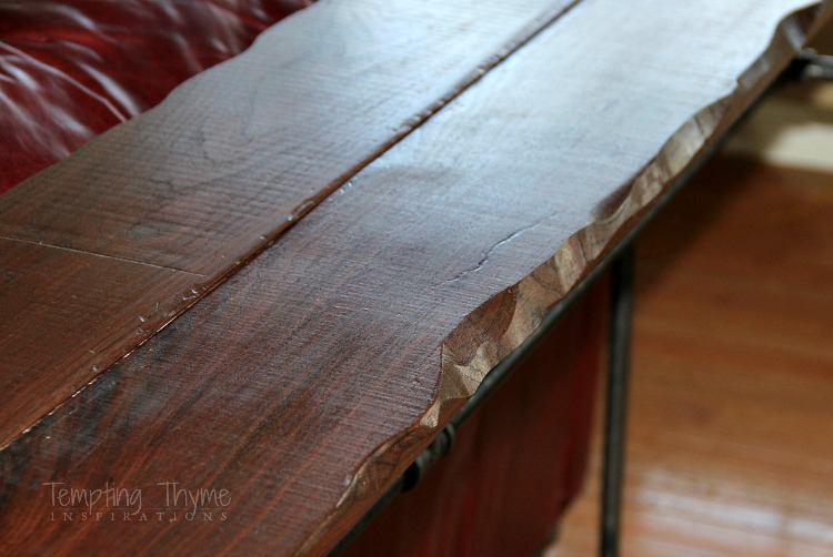 industrial furniture-live edge table