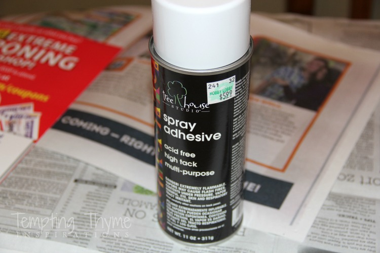 Using Spray adhesive to print fabric at home using your personal printer