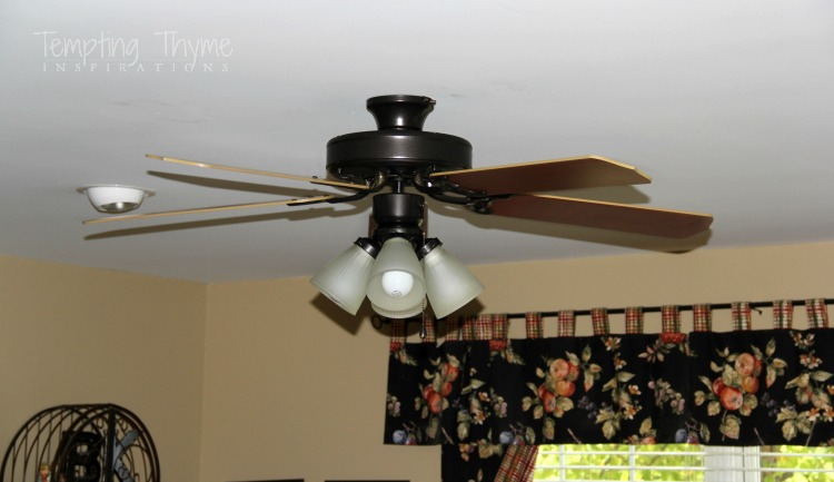 Paint Ceiling Fan : Updating a ceiling fan with little paint tempting thyme