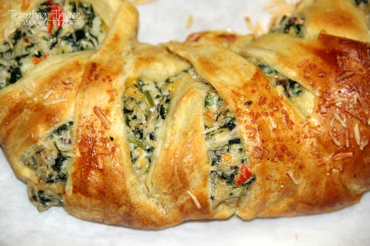 Spinach and Artichoke Crescent Ring-Appetizer