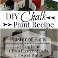 Plaster of Paris Chalk Paint Recipe