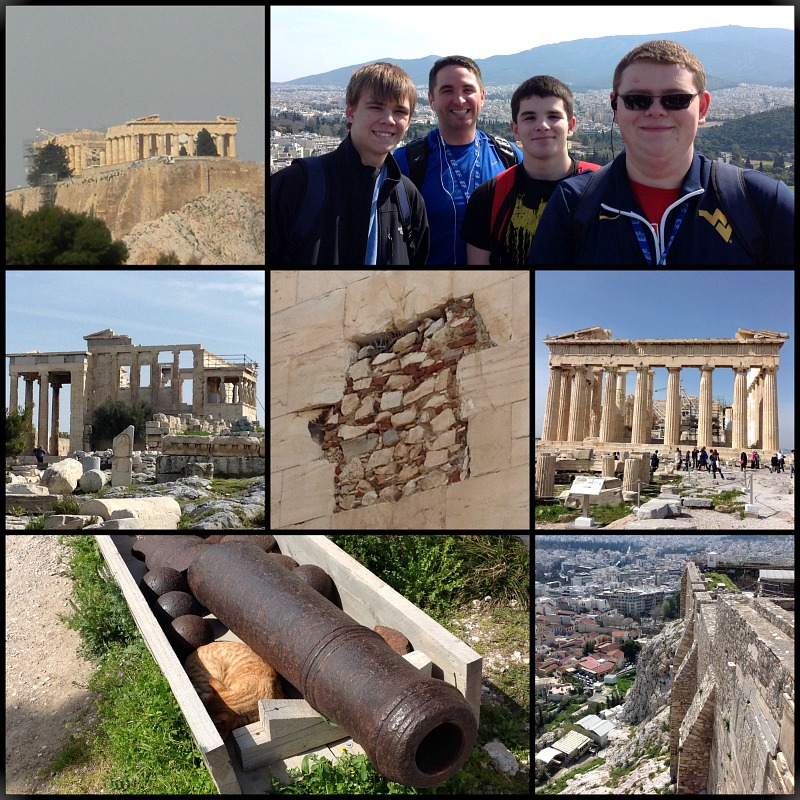 Visiting the Parthenon in Athens Greece