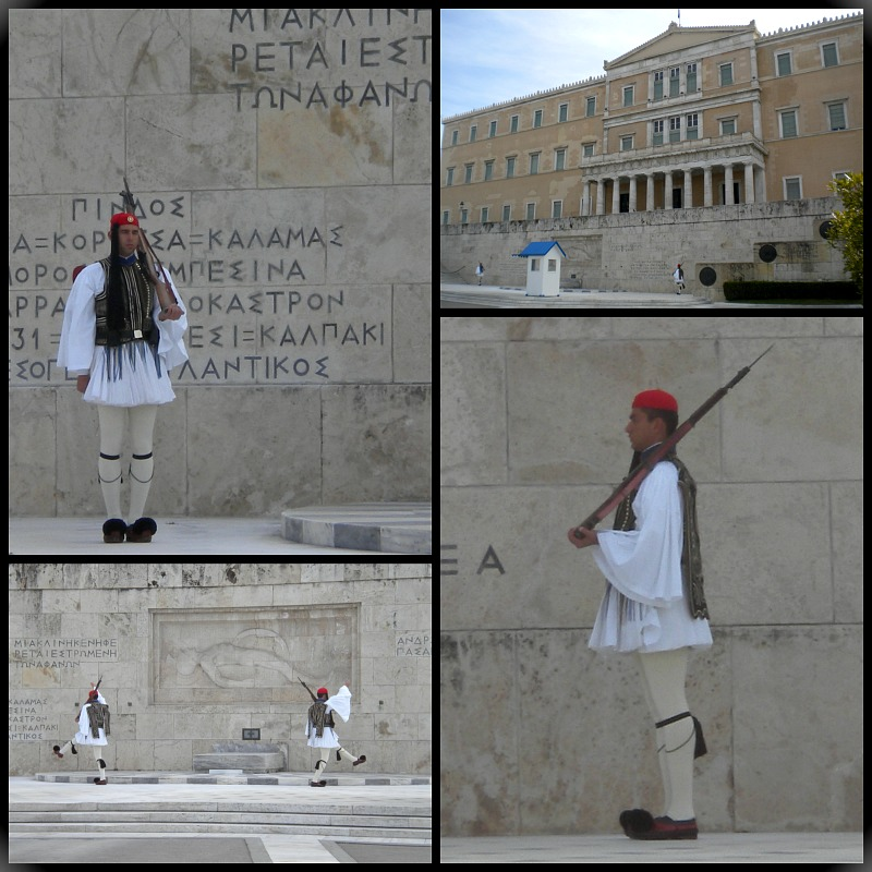 Tomb of the Unknown soldier in Athens Greece