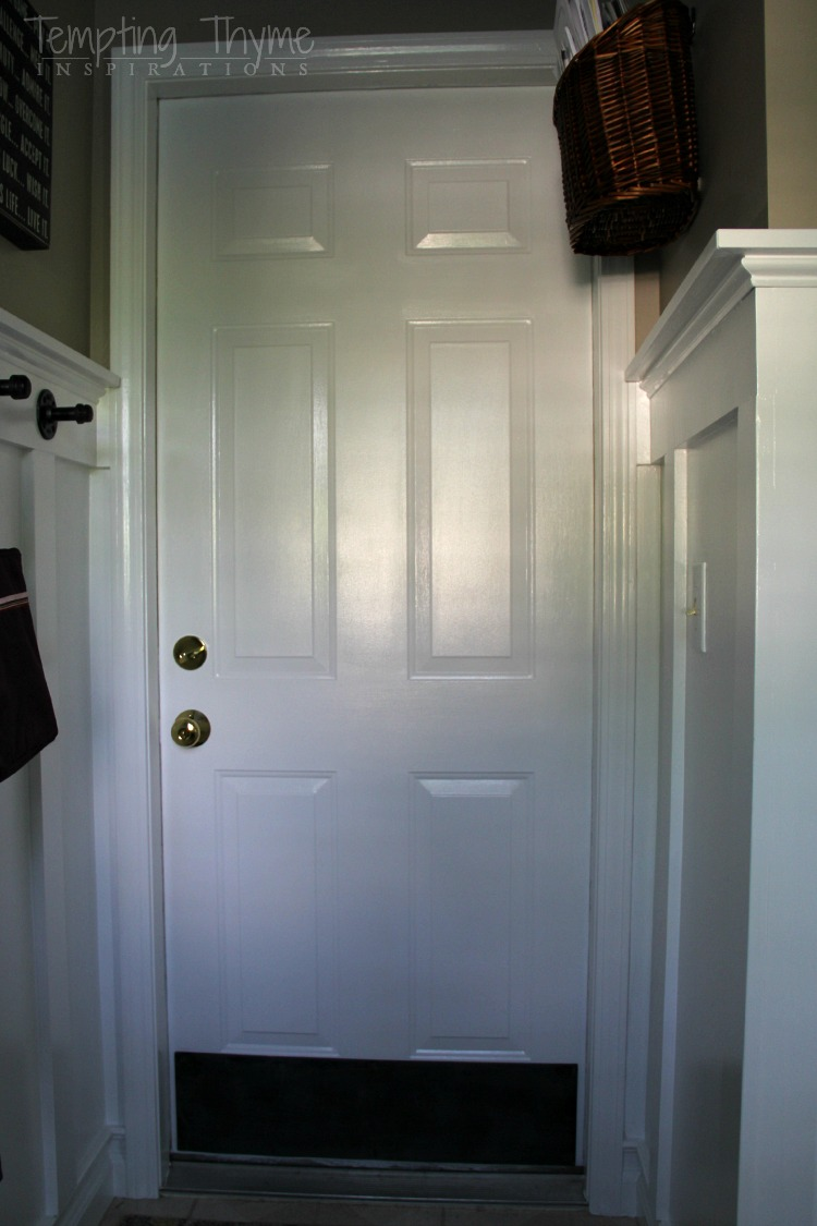 Think would you add this plywood kick plate to your interior door