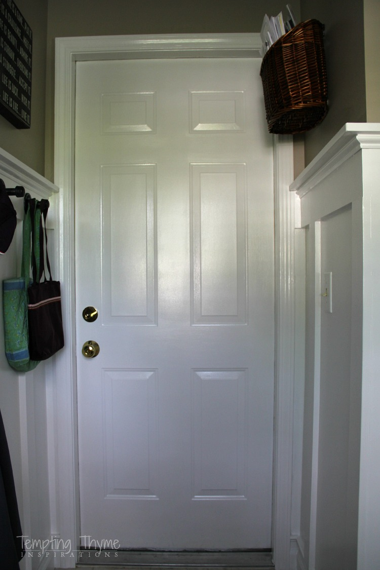 Dressing up an interior door with a diy kickplate