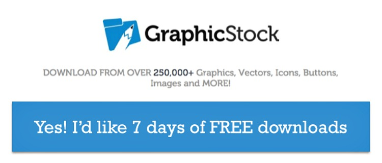 Graphicstock is giving us unlimited downloads of royalty free graphics and images