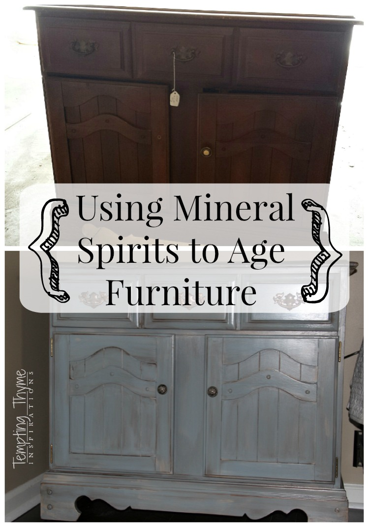Using mineral spirits to age furniture
