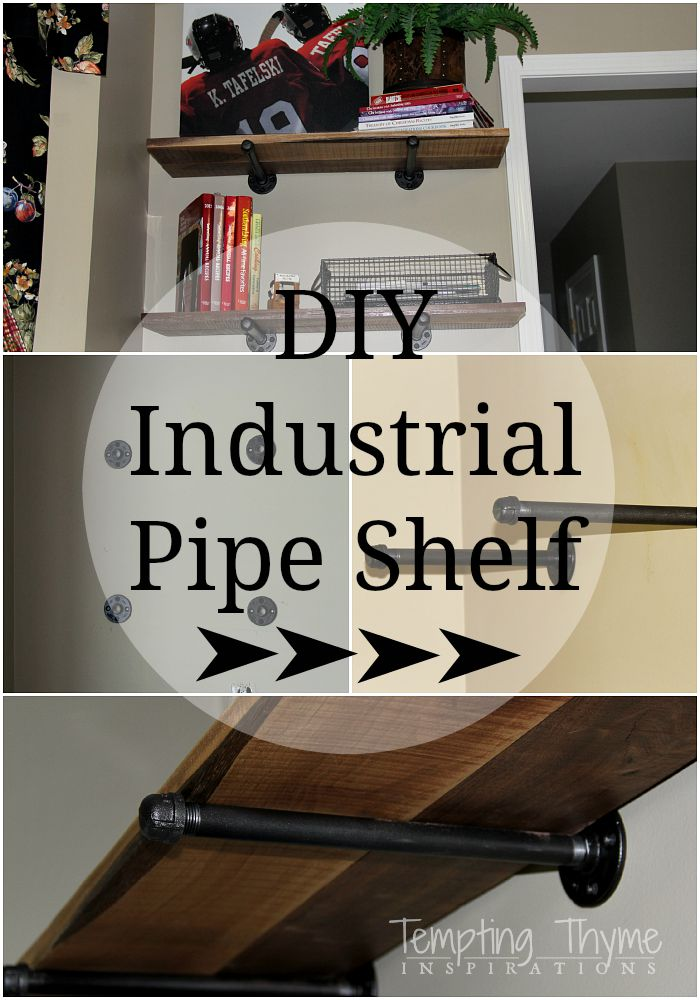 I love small doses of #industrial within classic, traditional homes. These shelves are quick, easy and #cheap