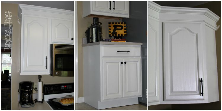Don't be afraid to paint outdated oak cabinets.  If you have a little patience, they will turn out beautifully!