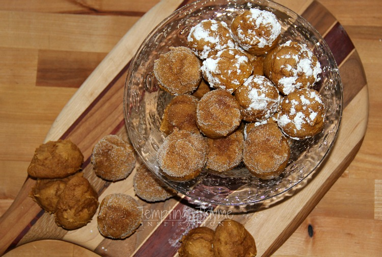Two Ingredient Pumpkin Muffin Bites