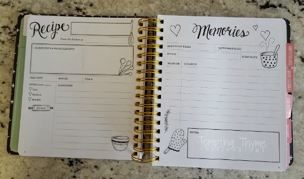 The Keepsake Kitchen Diary from Lily & Val is a wonderful way to collect and reminice over your favorite recipes for generations to come.