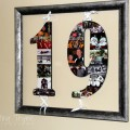 How to create a photo collage on wooden numbers and letters. What a great way to preserve your favorite photos and memories!