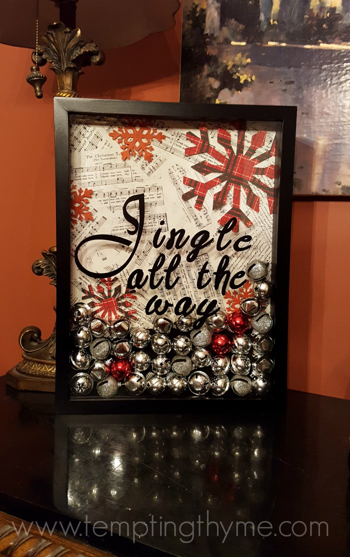 Jingle All The Way Shadow Box Holiday Crafts Tempting Thyme