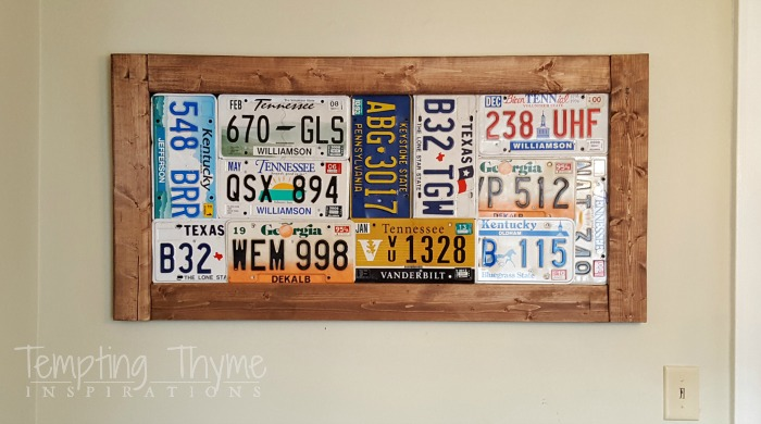 Using license plates in your home decor