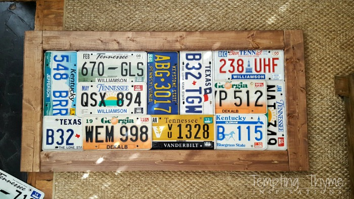 What a great way to use license plates as artwork.
