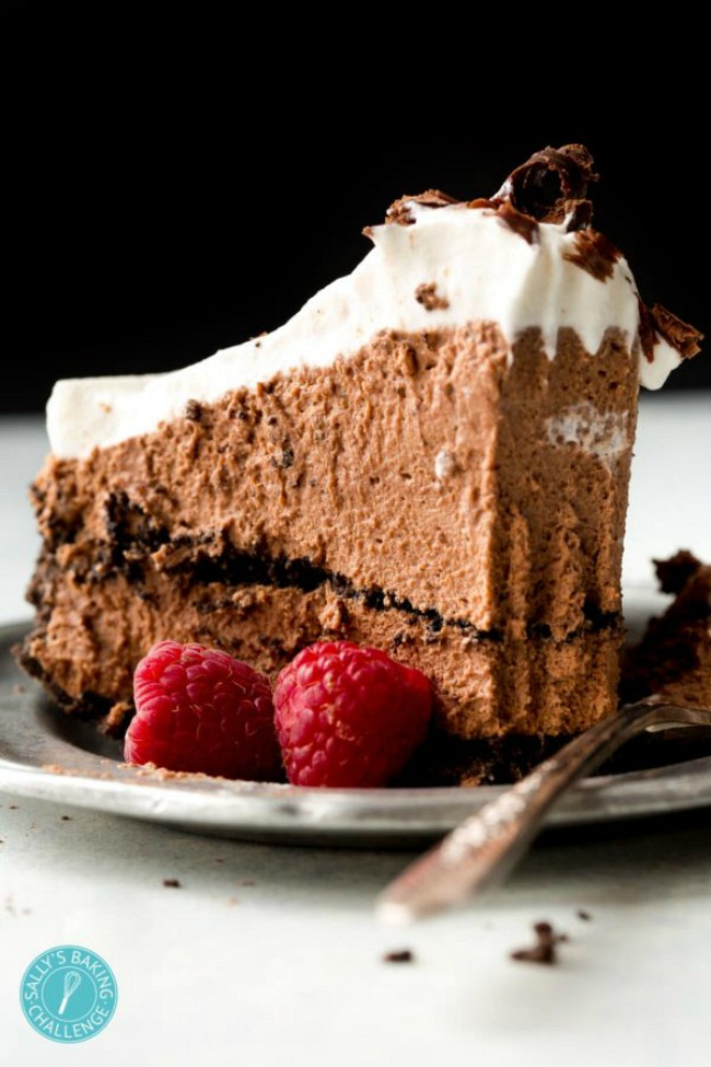 Sky high chocolate mousse pie