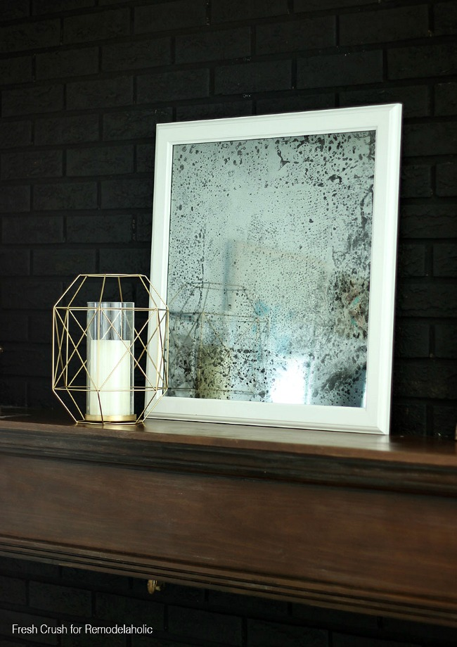 The easiest possible way to create an antique mirror from a brand new one.