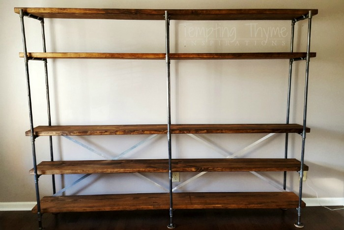 DIY Industrial Bookcase