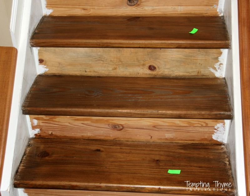 How To Stain Stair Steps