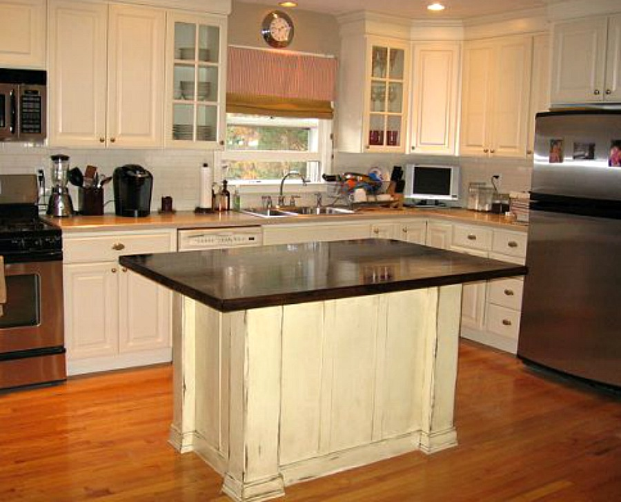 kitchen island makeover kitchen island makeover tempting thyme 13491